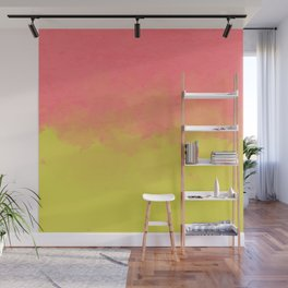Peach Lime Ombré Wall Mural