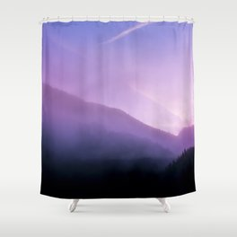 Morning Fog - Landscape Photography Shower Curtain