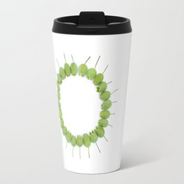Green Wildflower Circle Travel Mug