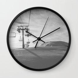 Alps ski lifts Wall Clock