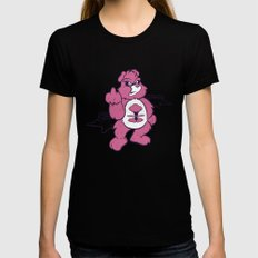 Don't Care Bear  LARGE Womens Fitted Tee Black