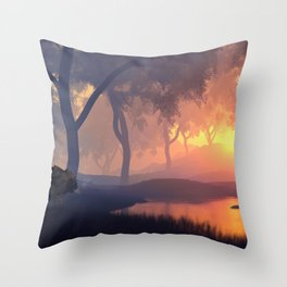 At the Pond Throw Pillow