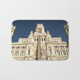 Building With LGBT Pride Flag Bath Mat