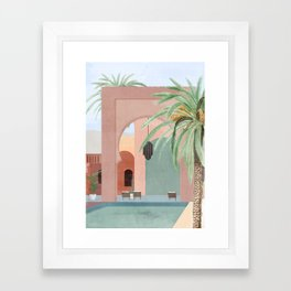 Moroccan Pool Framed Art Print