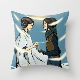 Leia's Message Throw Pillow