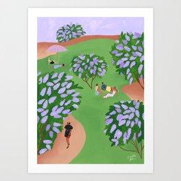 Le temps des lilas Art Print