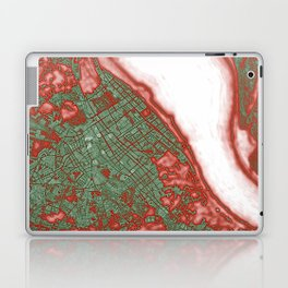Sanlucar de Barrameda city map pop Laptop & iPad Skin