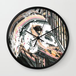 Modern Horse Art by Sharon Cummings Wall Clock