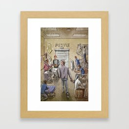 Dead Man Walking Framed Art Print
