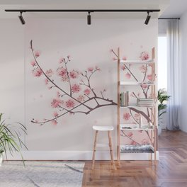 Oriental cheery blossom in spring 006 Wall Mural