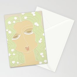 Flower Girl (colored - v2) Stationery Cards