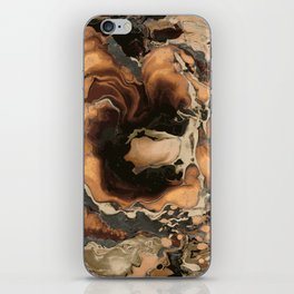 Old Brown Marble texture acrylic Liquid paint art iPhone Skin
