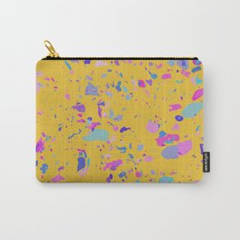 Bright Yellow Terrazzo Carry-All Pouch