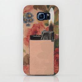 lighter on floral iPhone Case