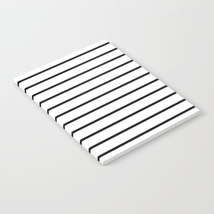 Thin Black Stripe Pattern Notebook