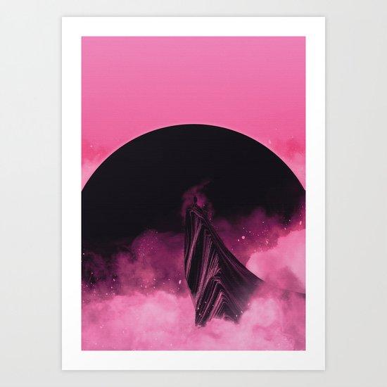 No Stars Pink Sky Art Print