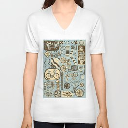 Here to There, Near or Far, This Way or That Unisex V-Neck