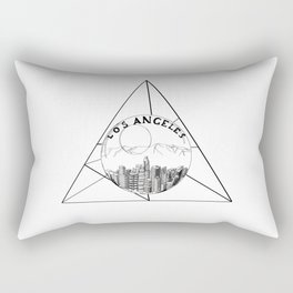 Graphic Geometric Shape Gray Los Angeles in a Bottle Rectangular Pillow