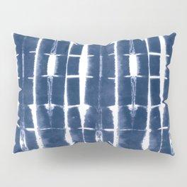 Shibori Stripes 3 Indigo Blue Pillow Sham