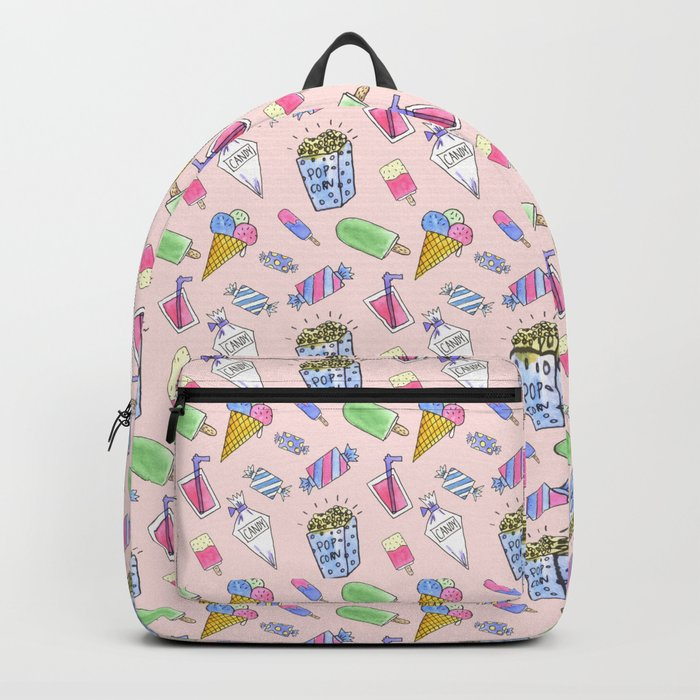 Cute pink candy and ice-cream Backpack