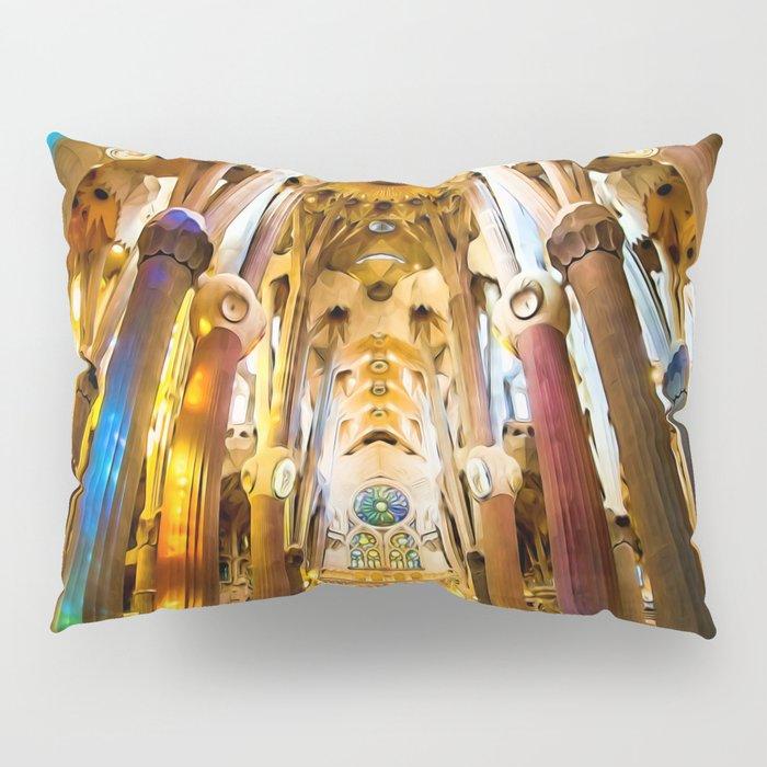 Sagrada Familia Art Work Pillow Sham