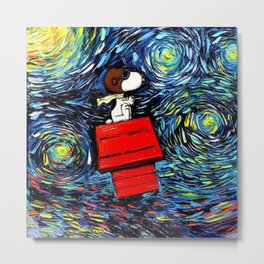 flying home snoopy Metal Print