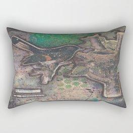 redstart bird canvas collage Rectangular Pillow