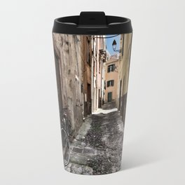 bicycle at the house door - ready to go Travel Mug