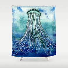 Emperor Jellyfish Shower Curtain