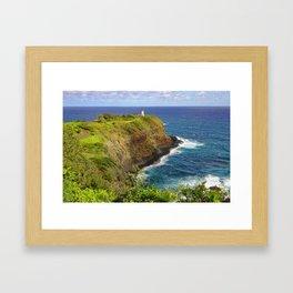 Kilauea Lighthouse Framed Art Print
