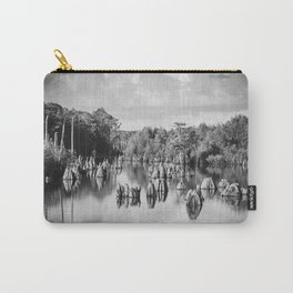 Dead Lakes Florida Black and White Carry-All Pouch