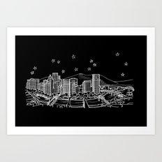Portland, Oregon City Skyline Art Print