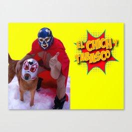 El Chich y Side Kick Canvas Print
