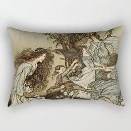 """""""Dancing With the Fairies"""" by Arthur Rackham Rectangular Pillow"""