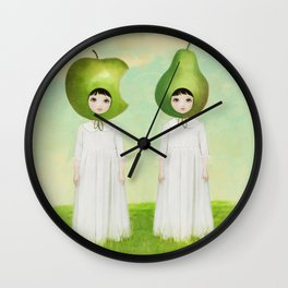 orchard twins Wall Clock