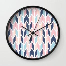 Colorful Geometric Pattern V Wall Clock