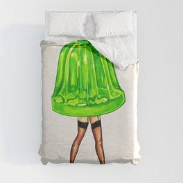 Green Jello Pin-Up Duvet Cover