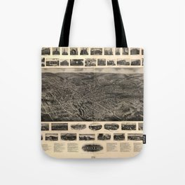 Bird's Eye View of Bristol, Connecticut (1907) Tote Bag