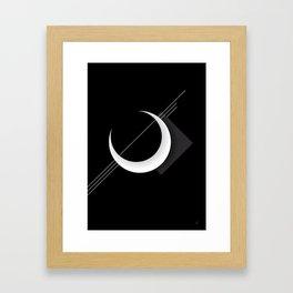 Moon Caos Framed Art Print
