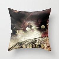 shell Throw Pillows featuring Shell by SteeleCat