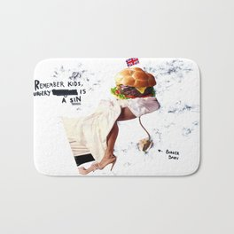 Burgery is a Sin Bath Mat