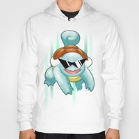 squirtle Hoodies featuring Squirtle Squad by Patrick Towers