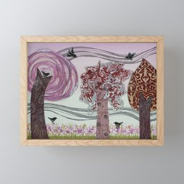 Pink Grove Framed Mini Art Print