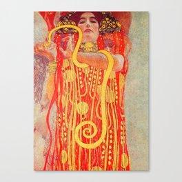 "Gustav Klimt ""University of Vienna Ceiling Paintings (Medicine), detail showing Hygieia"" Canvas Print"
