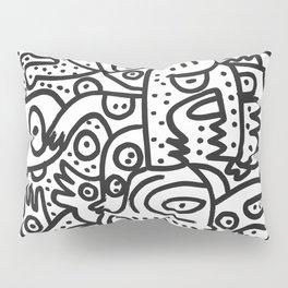 Black and White Graffiti Street art Ink Marker  Pillow Sham