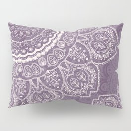 Mandala Tulips in Lavender ad Cream Pillow Sham