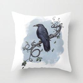 Carrion Crow Throw Pillow