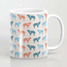 Valentine's dog surface pattern (red-blue small) Coffee Mug