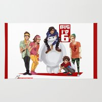 1d Area & Throw Rugs featuring Big 1D 6! by justsomestuff