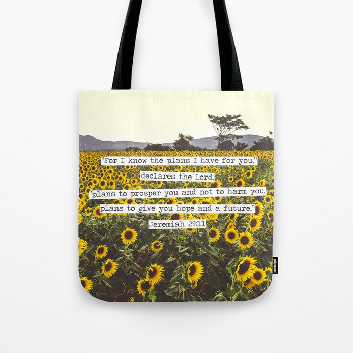 Jeremiah Sunflowers Tote Bag